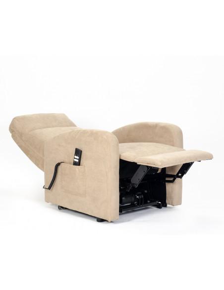 Fernsehsessel Chanel mit 2 Motoren und Aufstehhilfe. Bezug aus Mikrofaser oder Stoffbezug mit schmutzabweisender Behandlung.