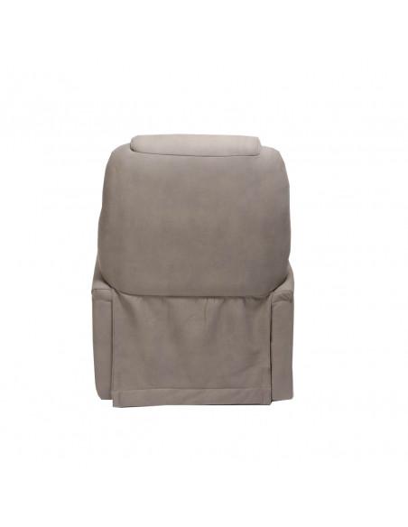 Sessel mit Aufstehhilfe Extra Large, 2 Motoren. Bezug aus Elefantenhaut-Mikrofaser