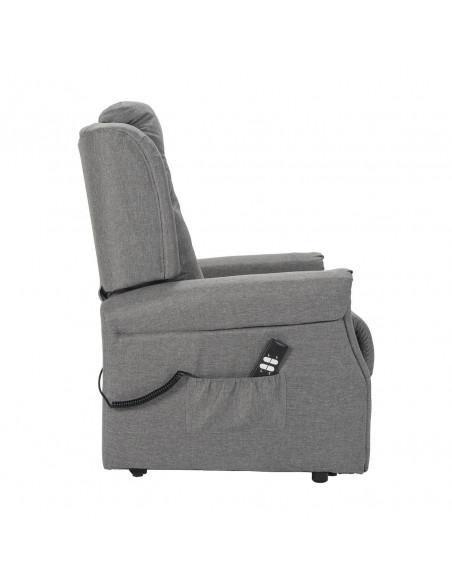 Fernsehsessel mit 2 Motoren: Aufstehhilfe und unabhängige Sitzneigung aus Stoffbezug