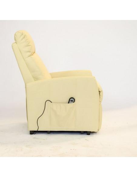 Elektrischer Fernsehsessel, 1 Motor mit Aufstehhilfe und kombinierte Sitzneigung. Bezug aus Mikrofaser