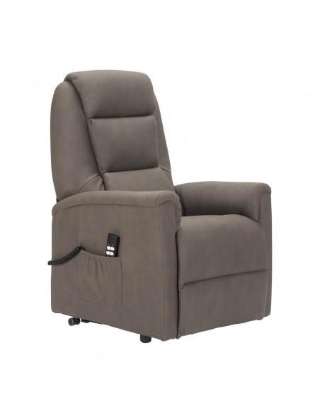 Sessel mit Aufstehhilfe, 2 Motoren. Small. Bezug aus Elefantenhaut-Mikrofaser