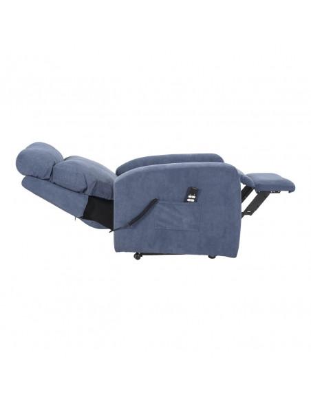 Sessel für Senioren, 2 Motoren, Aufstehhilfe. Abziehbarer Stoffbezug