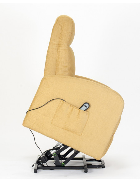 Fernsehsessel mit 1 Motor und Aufstehhilfe. Bezug aus Mikrofaser oder Stoffbezug mit schmutzabweisender Behandlung