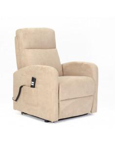 Fernsehsessel mit 2 Motoren und Aufstehhilfe. Bezug aus Mikrofaser oder Stoffbezug mit schmutzabweisender Behandlung.