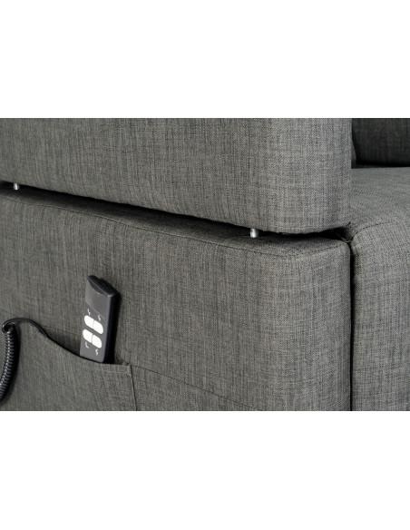 Fernsehsessel  2 Motoren mit abnehmbaren Armlehnen und Tisch, unabhängige elektrische Neigung und Aufstehhilfe