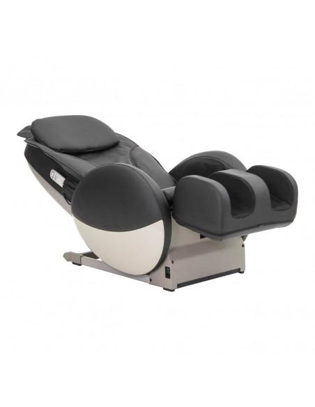 Shiatsu Massagesessel in schwarzem Kunstleder