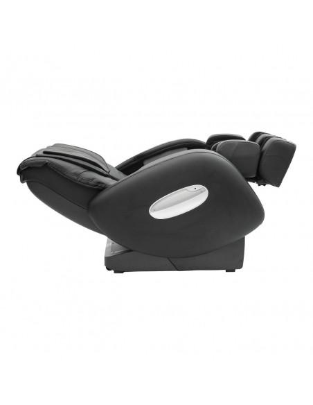 Shiatsu Massagesessel aus schwarzem Kunstleder