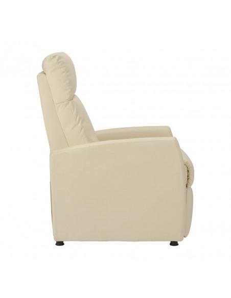 Relaxsessel mit manueller Sitzneigung durch leichten Körperdruck. Bezug aus Kunstleder.
