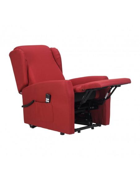 Fernsehsessel mit Aufstehhilfe und 2 Motoren. Memory-Foam Polsterung. Stoffbezug